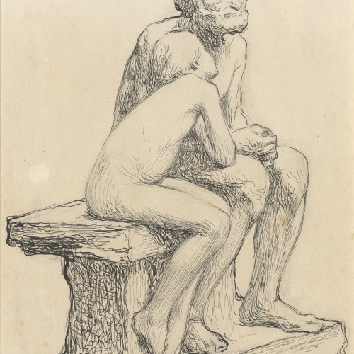 Miquel Blay - Study for the sculpture 'The First Cold' - Circa 1892