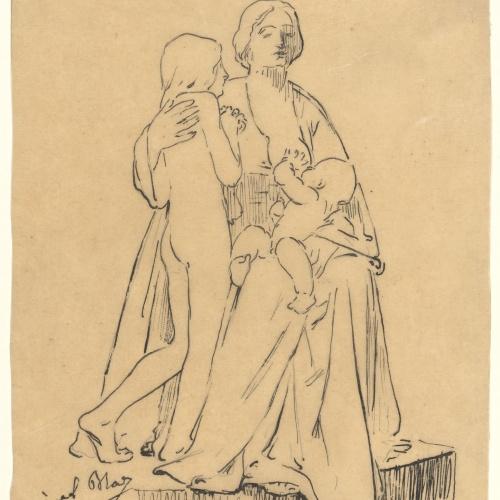 Miquel Blay - Charity, study for the sculpture of the tomb of Joaquín María de Errazu at the Père Lachaise cemetery (Paris) - 1898