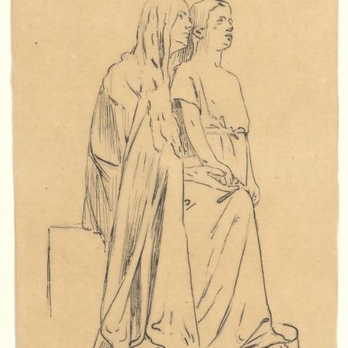 Miquel Blay - Faith or The Believers, study for the sculpture of the tomb of Joaquín María de Errazu at the Père Lachaise cemetery (Paris) - 1898