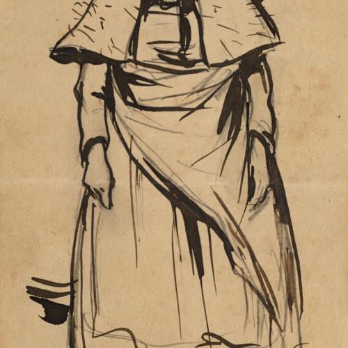 Ramon Casas - Old woman - Circa 1890-1892