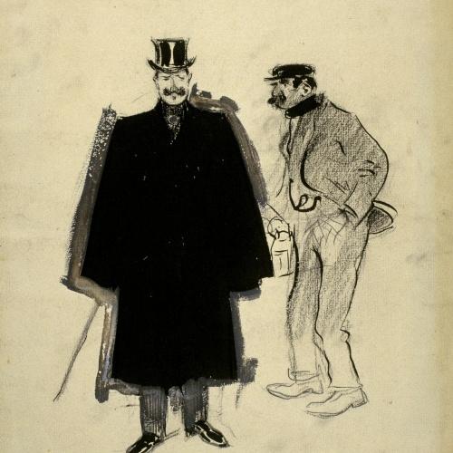 Ramon Casas - The Resident and the Watchman - Circa 1890-1900