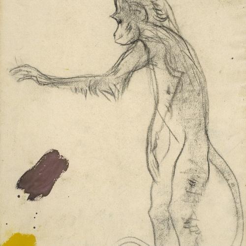 Ramon Casas - Mono y mona. Estudi per al cartell «Anís del Mono» - 1898