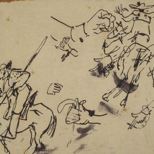 Ramon Casas - Picadores and other sketches - Circa 1890-1900