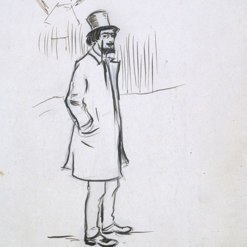 Ramon Casas - Study for the picture 'Portrait of Erik Satie' - Circa 1891