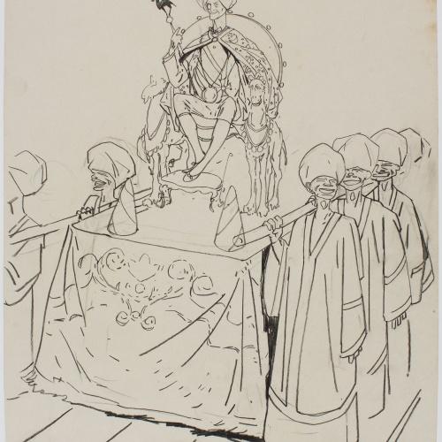 Francesc Xavier Gosé - Carnival of Nice. S.M. Carnaval XXXII - Circa 1904