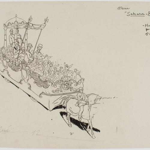 Francesc Xavier Gosé - Carnival of Nice. Char 'Sahara-Boum di He' - Circa 1904