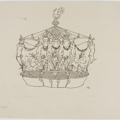 Francesc Xavier Gosé - Carnival of Nice. Char du harem - Circa 1904