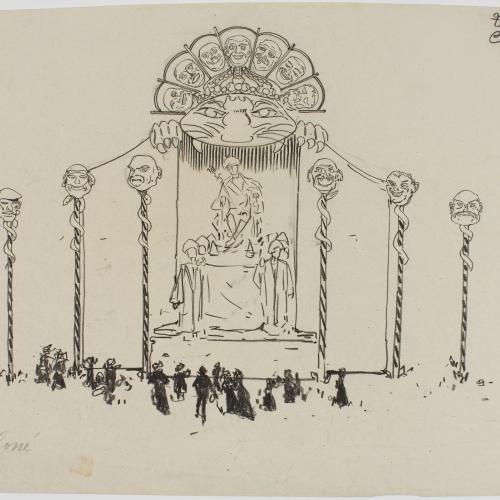 Francesc Xavier Gosé - Carnival of Nice. Trono de S.M. Carnaval - Circa 1904