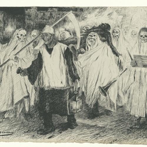Lluís Graner - Enterrament del Carnestoltes - Cap a 1904