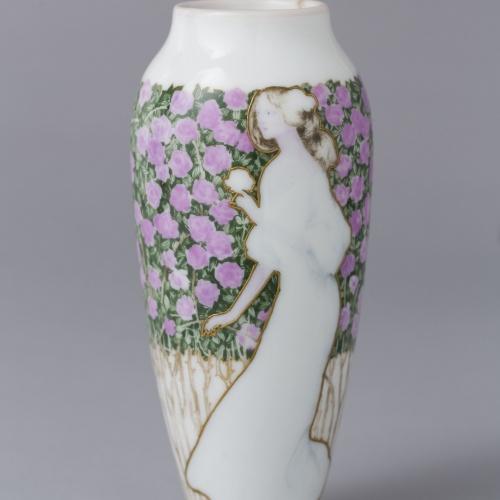 Antoni Serra - Vas decorat amb figura femenina - Cap a 1901-1907