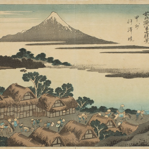 Katsushika Hokusai - Sunset in Isawa, Kai province - Circa 1830-1832