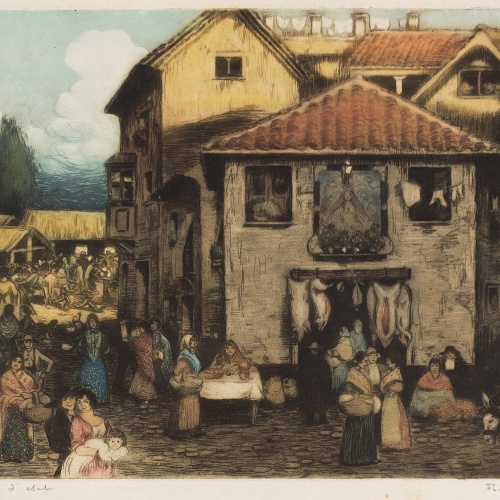 Ramon Pichot Gironés - Market - Between 1906 and 1911