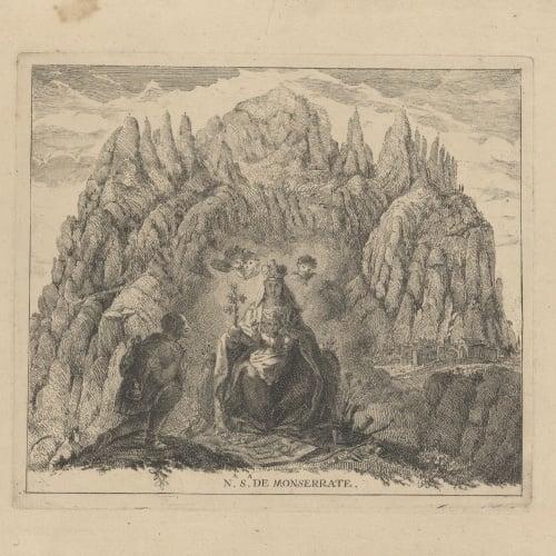Francesc Tramulles - Mare de Déu de Montserrat - Cap a 1764