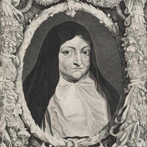 Pieter van Sompel - Retrat de la infanta Isabel Clara Eugènia - Cap a 1650