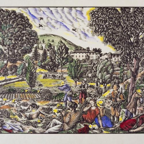Enric Cristòfol Ricart - Cacera de la llebre al Montseny - 1928