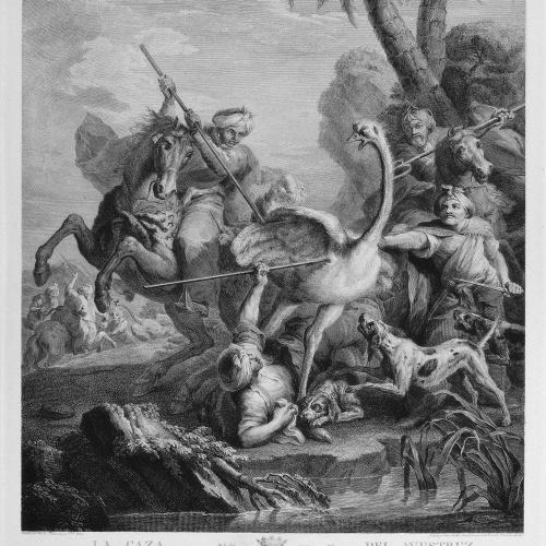 Blai Ametller - La caça de l'estruç - 1803