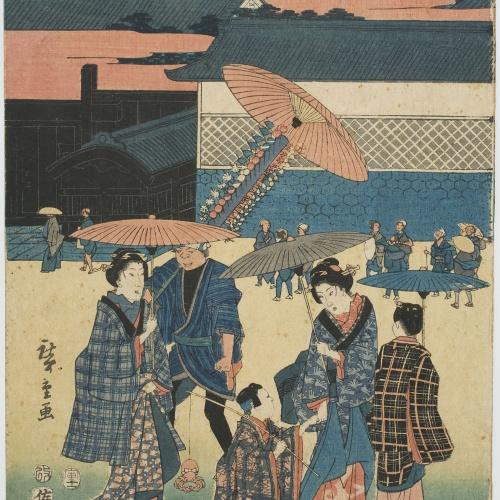 Ando Hiroshige - Kasumigaseki (Famous Views of the Eastern Capital) (Tōtō meisho) - 1854