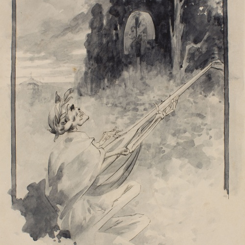 Alexandre de Riquer - Cant de la mort - Cap a 1890-1900