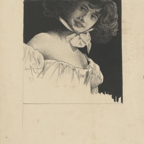 Alexandre de Riquer - Retrat de noia jove - 1898