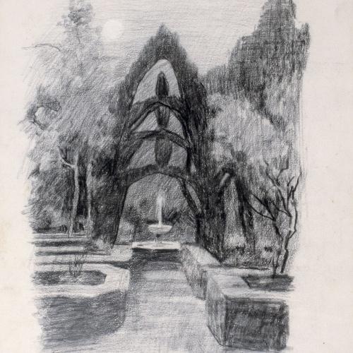 Santiago Rusiñol - Jardí del Generalife - 1895
