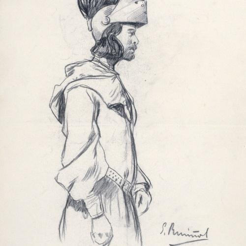 Santiago Rusiñol - Conde de Cabra. Sr. Garro - Cap a 1880-1885