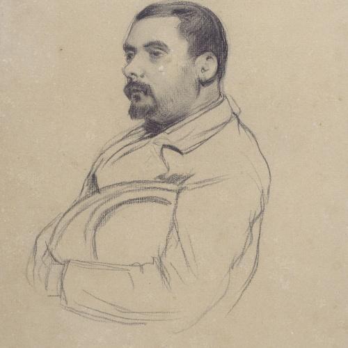 Santiago Rusiñol - Portrait of a Man - Circa 1895-1897