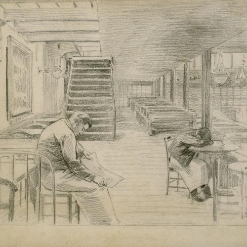 Santiago Rusiñol - Esperant la clientela - 1891