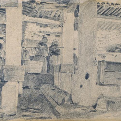 Santiago Rusiñol - Interior d'un safareig - 1890