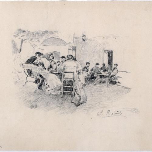 Santiago Rusiñol - Berenar a l'aire lliure - Cap a 1887