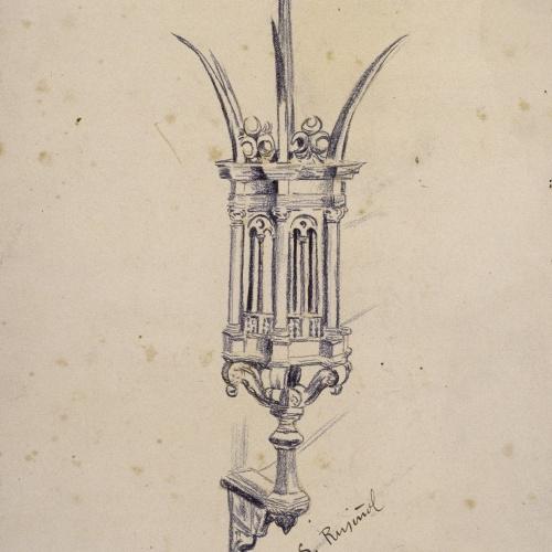 Santiago Rusiñol - Còpia d'una llanterna de ferro forjat de Nicolas Grosso - 1894