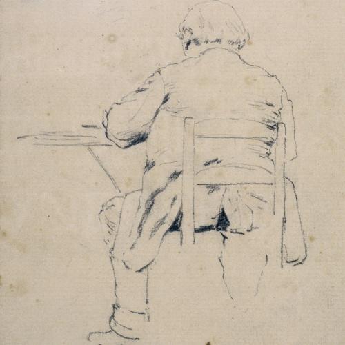 Santiago Rusiñol - Home assegut i d'esquena - Cap a 1880-1885