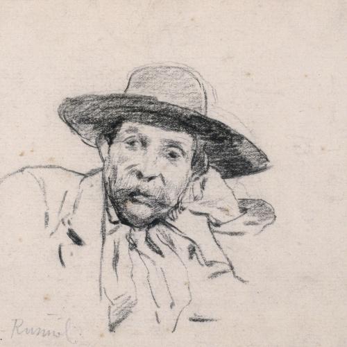 Santiago Rusiñol - Study of a Male Head - Circa 1880-1885