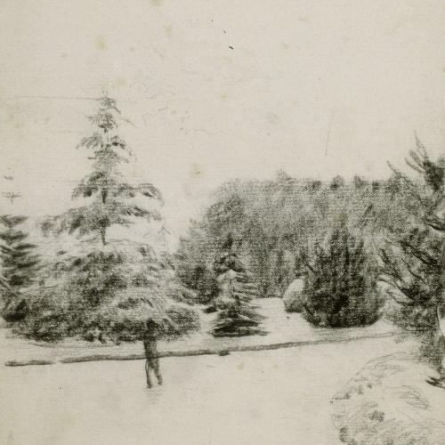 Santiago Rusiñol - Study of a Garden - Circa 1891