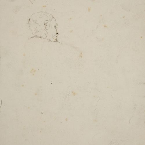 Santiago Rusiñol - Study of a Male Head - Circa 1891