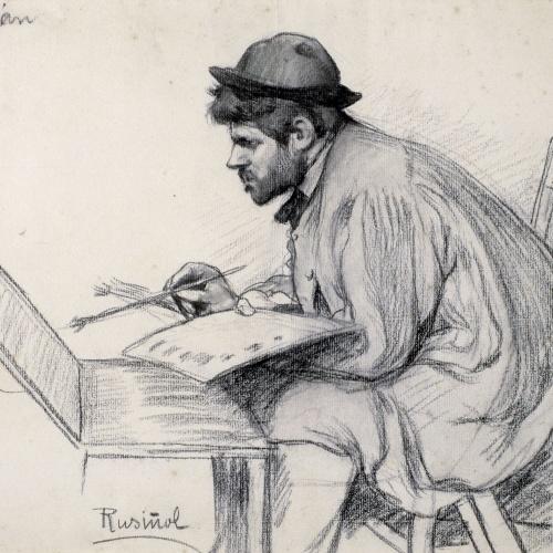 Santiago Rusiñol - Retrat de Pere Ferran pintant - 1895