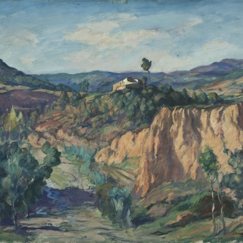 Ricard Canals - Landscape with a Torrent (Piera) - Circa 1920