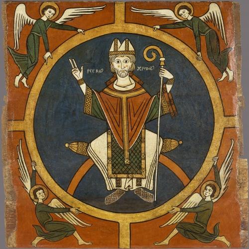 Anònim. Catalunya. Taller de la Seu d'Urgell del 1200 - Lateral d'altar d'Aurós. Sant Pere - Segon quart del segle XIII