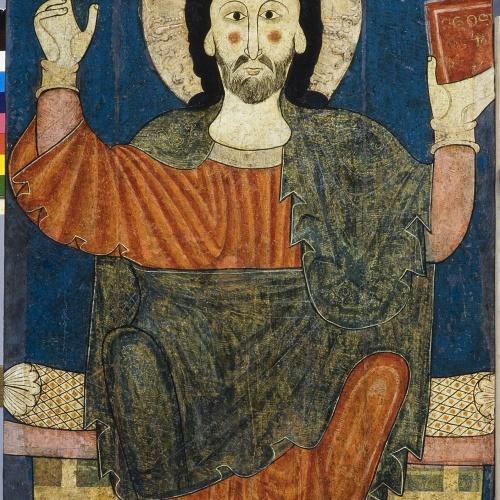 Anònim. Catalunya. Taller de la Seu d'Urgell del 1200 - Taula de baldaquí de Benavent - Primera meitat del segle XIII