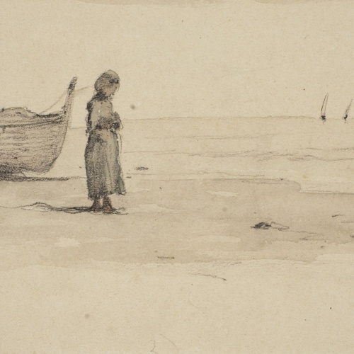 Modest Urgell - A la platja - Cap a 1864-1880