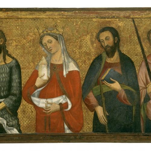 Pere Serra - Sant Joan Baptista, Santa Maria Magdalena, Sant Jaume el Menor, Sant Pau - Cap a 1385