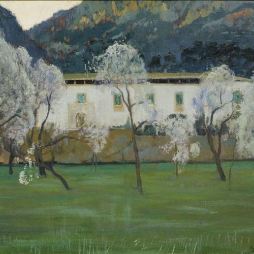 Santiago Rusiñol - Masía blanca (Bunyola, Mallorca) - Mallorca, 1902