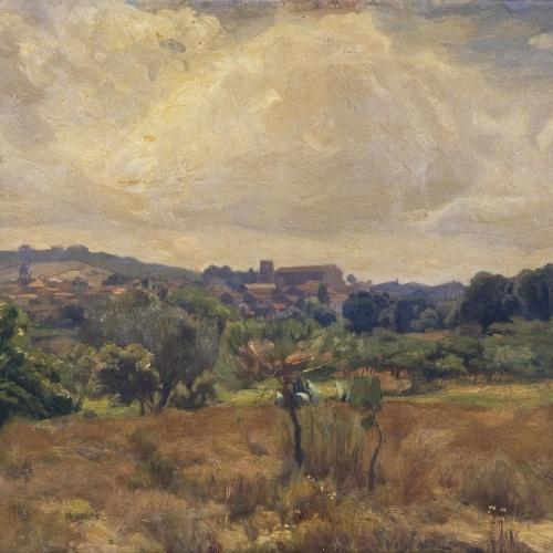Enric Galwey - Paisatge de la Garriga - Primer quart del segle XX