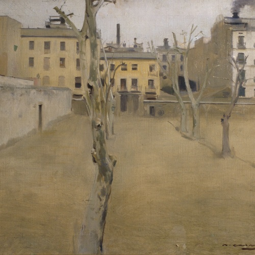 Ramon Casas - Pati de l'antiga presó de Barcelona (Pati dels Corders) - Cap a 1894