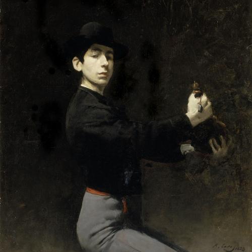Ramon Casas - Autoretrat - París, 1883