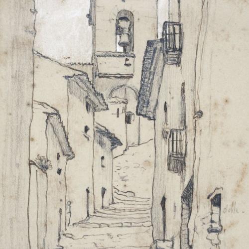 Modest Urgell - Carrer de poble - Cap a 1864