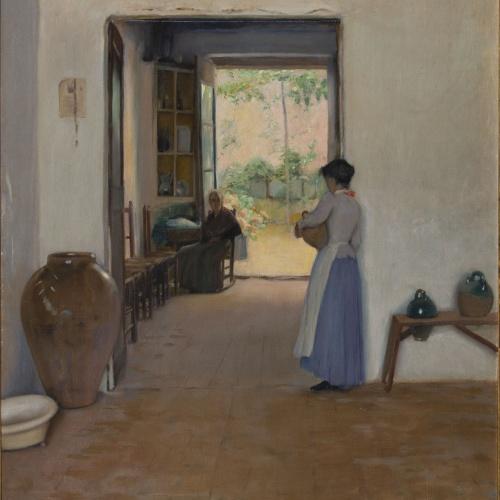 Santiago Rusiñol - Interior de Sitges - Sitges, cap a 1894