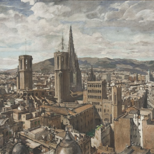 Francesc Labarta - The City of Barcelona - 1930