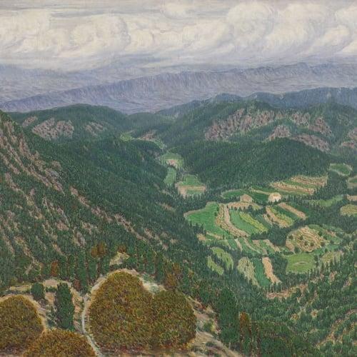 Marià Pidelaserra - Les Guilleries des del Montseny. Després d'una tempesta - 1903