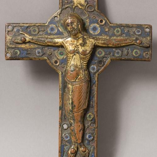 Anònim - Placa central d'una creu - Llemotges, segon quart del segle XIII