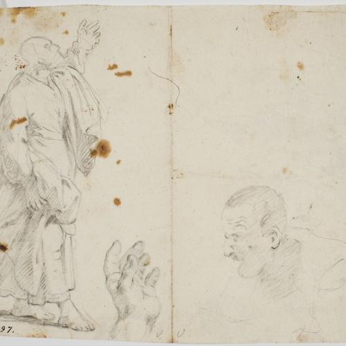 Antoni Viladomat - Study for the picture 'Pentecost' - Circa 1740
